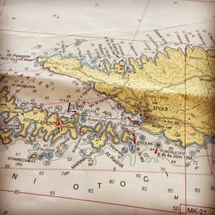 Croatia sailing map