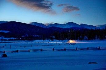 Devil's Thumb Ranch snowcat dawn