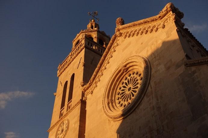 Korčula church sunset