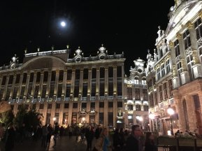 Brussels Grand Place moonlight