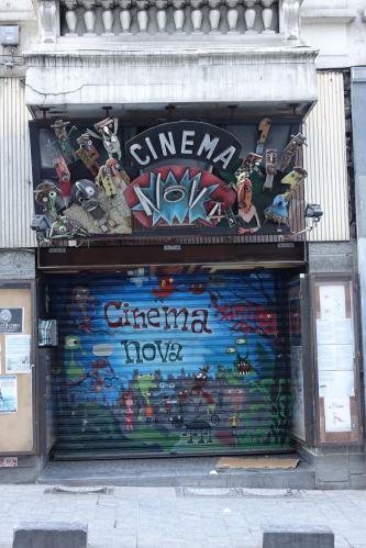 Cinema Nova sign Brussels