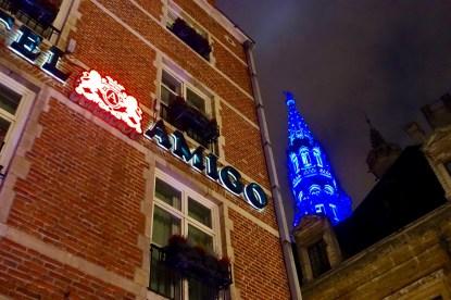 Hotel Amigo Brussels at night