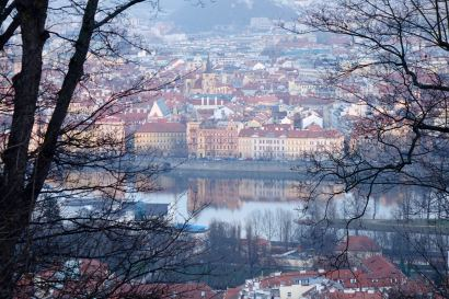 Prague view from castle