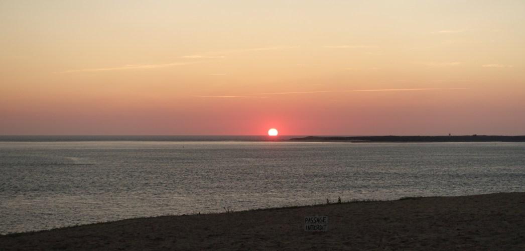 La Coorniche sun setting
