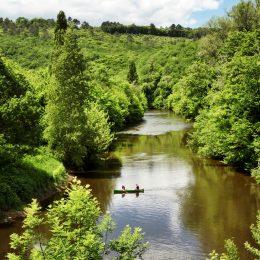 La Vézère river boaters