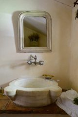 With a beautiful sink like this, I didn't know whether to brush my teeth or genuflect..