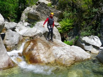 Canyoning in Corsica rock walk