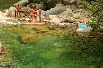 Gorge de Restonica clear pool