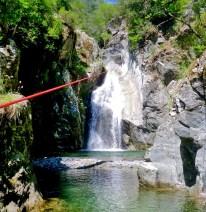 Corsica Canyoning huge waterfall