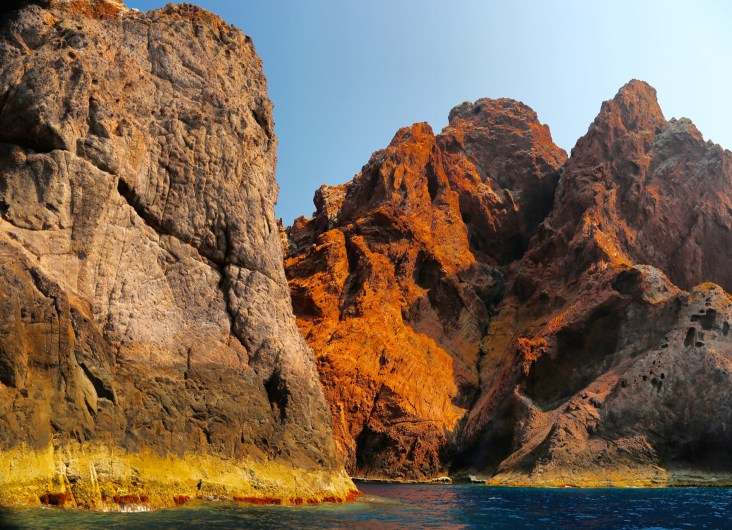 Scandola Nature Reserve algae cliffs