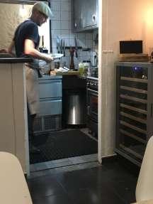 Cinq restaurant Tourrettes-sur-Loup kitchen