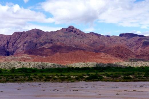 Ruta 40 Salta Argentina red mountains