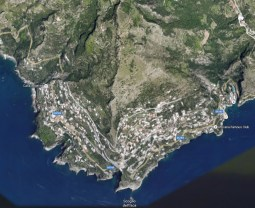 Praiano from the air