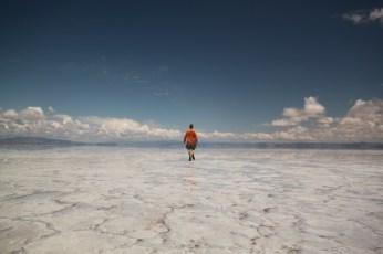 Salinas Grande Argentina mirage walking