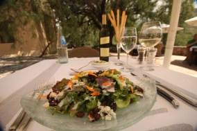 Estancia Colomé restaurant salad
