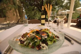 Estancia Colomé restaurant salad