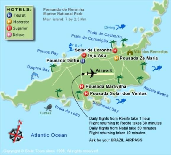 Praia do Sancho Fernando de Noronha map