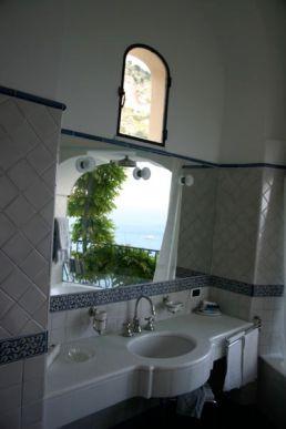 Albergo Miramare Positano bathroom
