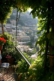 Albergo Miramare Positano terrace view
