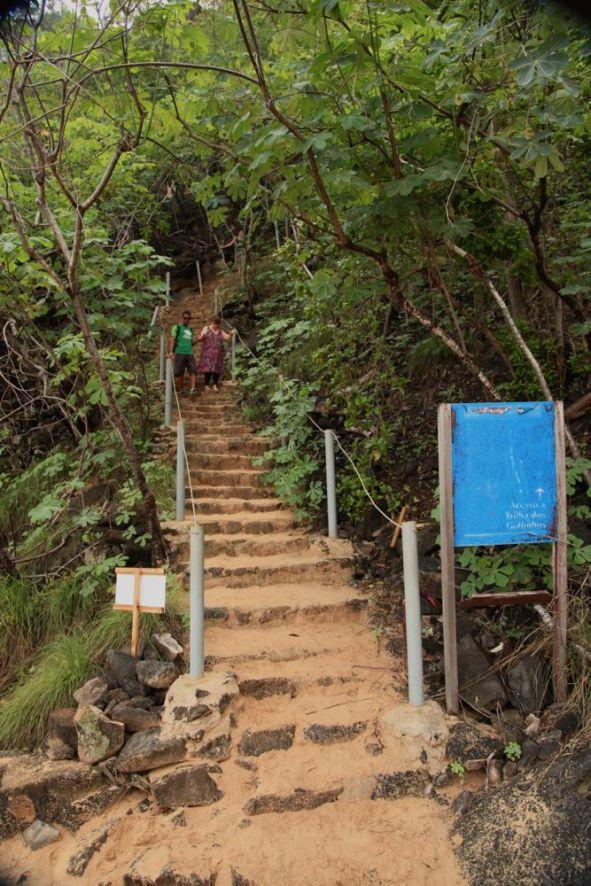 Praia do Sancho Fernando de Noronha steps