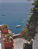 View from Hotel Onda Verde Sailboat