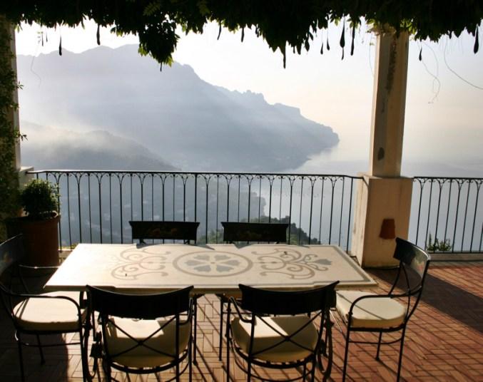 Palazzo Avino Ravello suite terrace sunrise