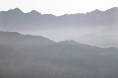Ravello mountain ridge view