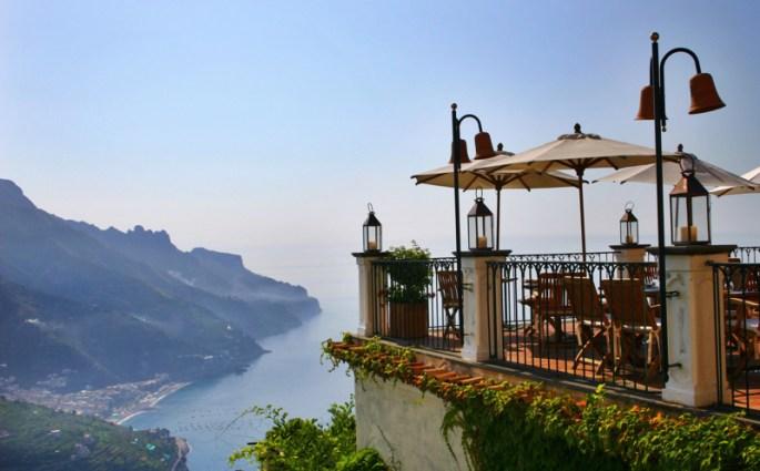 Palazzo Avino restaurant terrace view