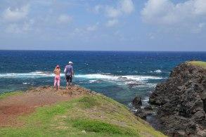 overlooking Praia do Rachel