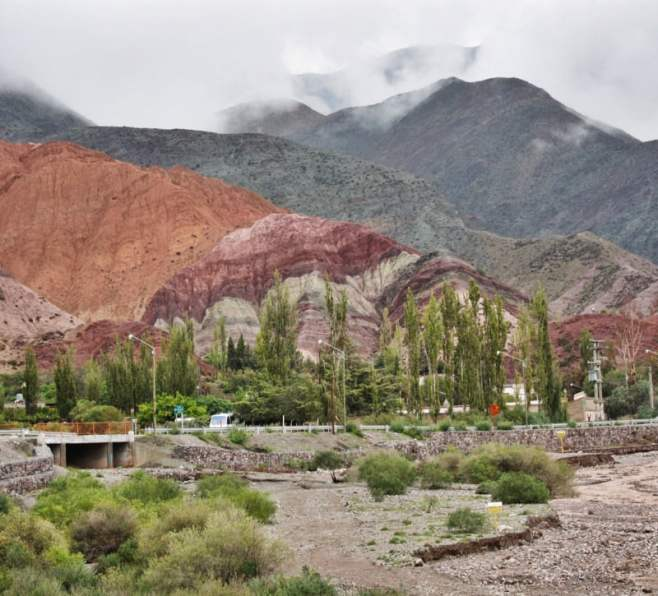 Far View of the Hill of Seven Colors Purmamarca Argentina