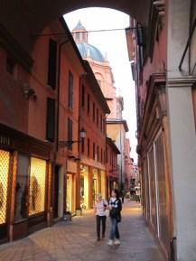 Bologna street dusk
