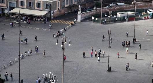 Villa Borghese piazza view