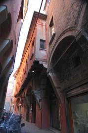 Bologna narrow street