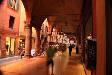 Bologna dark red portico