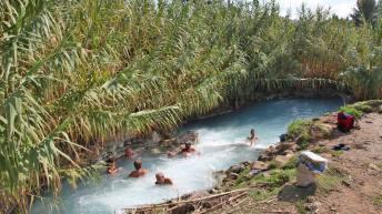 Saturnia hot springs swimming