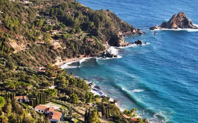 Monte Argentario coastal view