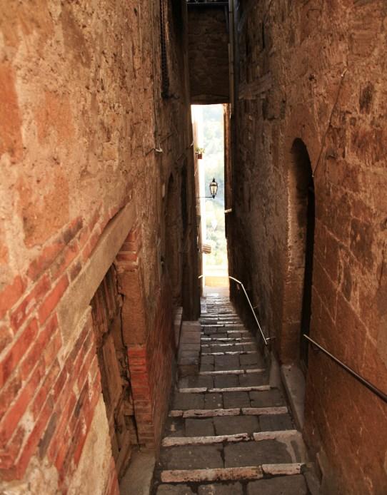 Pitigliano narrow alley