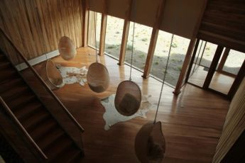 Tierra Patagonia hanging chairs