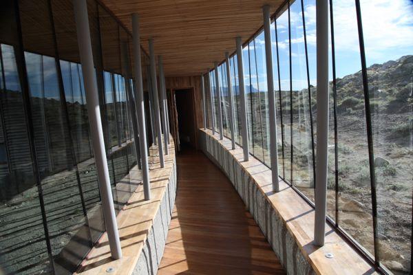 Tierra Patagonia exterior hallway