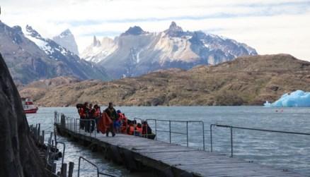 Torres del Paine Grey's Glacier boat dock