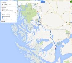 Torres del Paine National Park map to park