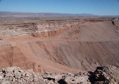 Atacama Desert Valley of the Moon canyon walls