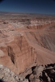 Atacama Desert Valley of the Moon canyon wall