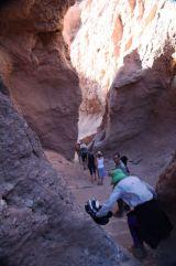 Atacama Desert Devil's Gorge narrow canyon