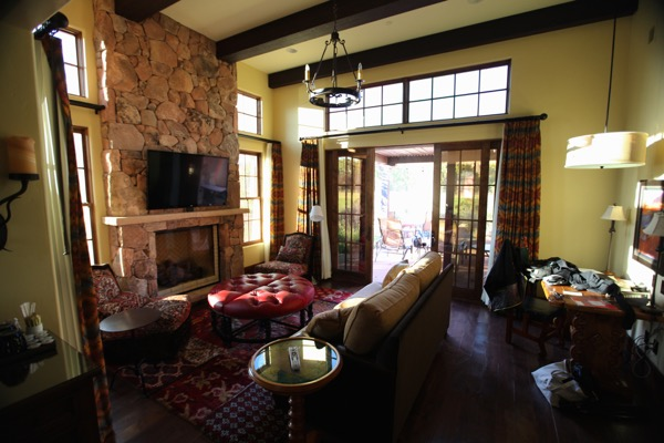 Gateway Canyons Resort living room casita