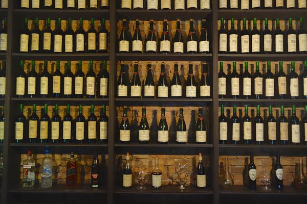 Narbona Wine Lodge wine bottles