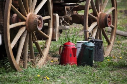 Flying W Ranch coffee pots