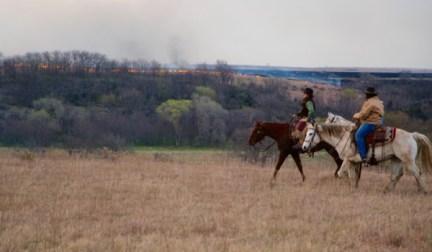 Flying W Ranch lighting fires