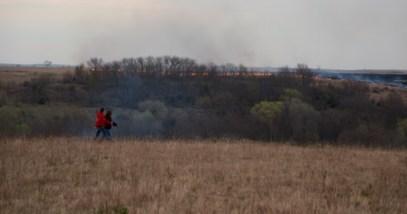 Flying W Ranch fire on ridge