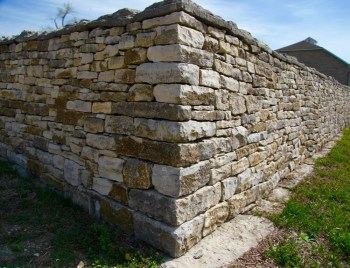 TALLGRASS PRAIRIE NATIONAL PRESERVE stone wall